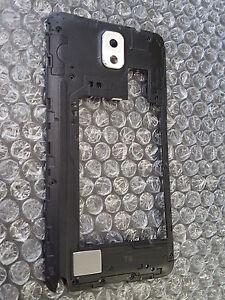 Samsung Galaxy Note 3 Back Midframe Housing GSM Only Bezel White Loud Speaker ~