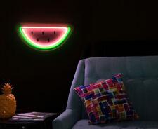 LIT. 40x20cm LED Flexmelon Neon Watermelon Wall Light - Pink/Green