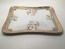 Antique Erdmann Schlegelmilch Hand Painted Porcelain Vanity Dresser Tray