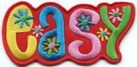 EASY retro hippie 70s love peace embroidered applique iron-on patch S-1407