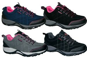 LADIES WEATHERPOOF LACE UP LIGHTWEIGHT WALKING/WORK CASUAL TRAINER SHOE SIZE 3-8