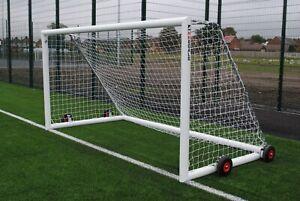 Pair of 12x6 Mini Soccer Football Goals - Freestanding - Wheeled - Free P&P