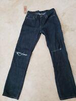 LEVI'S JEANS MEN'S 514 DARK BLUE DENIM JEAN 32X34 STRAIGHT LEG MSRP $59 NEW