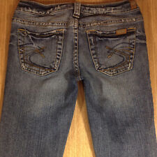 SILVER Jeans TUESDAY Bootcut 28x33 Medium Blue Distressed  *XLNT EUC*  M071418