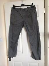 Urban Spirit Original Cut Men's Grey Denim Jeans Trousers, 5 Pockets, Size 36/32