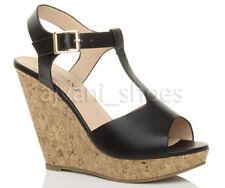 Sandalias con plataforma de mujer de tacón alto (más que 7,5 cm) de piel