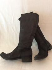 Progetto Black Knee High Leather Boots Size 40
