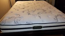 """mattress queen - used, white (With blue stitching), pillow top, (60""""x79.5"""")"""
