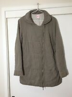 Sass And Bide Ladies Khaki/grey Quilted Puffer Jacket size US 6 Aus 10 Good Cond