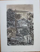 CANE Louis - Gravure etching signée épreuve d'artiste paysage gris ++