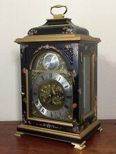Comitti London Table Clock by Kieninger, 11 Jewels Adjusted J0240 Tempos Fugit