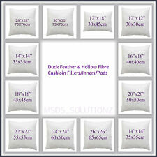Hollow-fiber & Duck-feather Cushion Fillers/Inner Cushion Inserts/Pads All Sizes