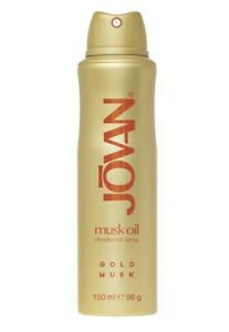 JOVAN MUSK OIL GOLD MUSE 150ML DEODORANT SPRAY NEW FOR WOMAN