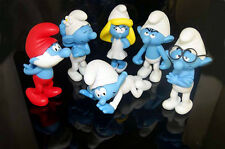 Cute Set of 6 The Smurfs Plastic toy Moveable Action Figure 8-13CM