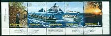 PITCAIRN ISLANDS 669 SG759-62 Used 2008 Longboat History strip of 4 Cat$12