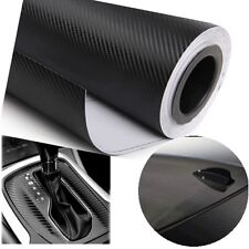 Premium Matte Gloss Semi Black Carbon Fiber Vinyl Wrap Sticker Film 2m x 60cm