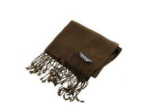 Scarf Brown 100% Cashmere Or Pashmina Nepal IN Promotion Promo