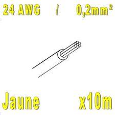 Fil de cablage 24AWG / 0,2mm² Jaune 10m