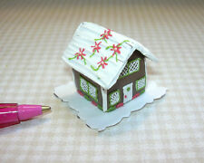 Miniature Christmas Gingerbread House, Pointettia Roof for DOLLHOUSE