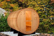 Barrel Sauna, Red Cedar, Electric Heater Included, 8 Feet, Fits 6 (BRT-68-C)