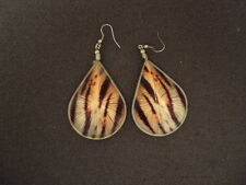 NEW PAIR OF THREAD EARRING WITH ANIMAL PRINTS