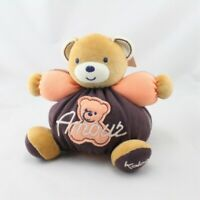 Doudou ours marron orange Amour Sweet Life KALOO - Ours Classique
