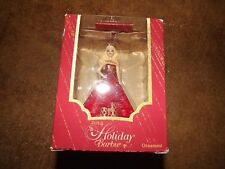 NIB Heirloom American Greetings 2014 Holiday Barbie red dress Barbie ornament