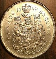 1965 CANADA SILVER 50 CENTS COIN