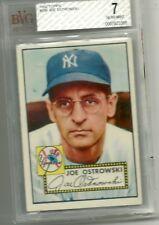 1952 Topps #206 Joe Ostrowski BVG 7 New York Yankees Baseball Card