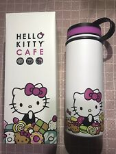 Brand New in Box Hello Kitty Cafe Exclusive Thermal Thermos Water Bottle 18 oz