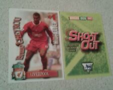 SHOOT OUT CARD 2003/04 (03/04) - Green Back -Liverpool - Bruno Cheyrou