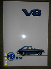 MG MGB GT 3532cc V8 1976 OWNERS handbook DRIVERS MANUAL inc LUBRICATION DIAGRAM