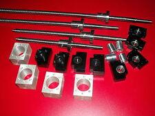 RM2505-373/873/1373/1373mm-C7 Ball screw+4set BKBF15 end bearing+nut housing CNC