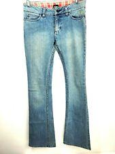 "Etnies Woman's Blue Jeans SZ 3 Denim Waist 30"" Inseam 32"" Distressed"