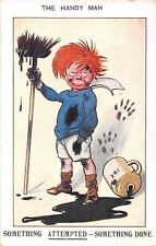 POSTCARD  COMIC    The  Handy  man   Ink  Little  Boy
