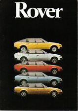Rover SD1 2300 2600 S 3500 se griego Plas 1980-81 Folleto Original No. 3475/A