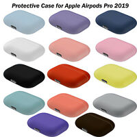 For   Airpods Pro 2019 Wireless Charging Case Silicone Protective Cover Skin HYA
