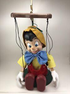 Vintage Disney Telco Singing Pinocchio Marionette Puppet Christmas Figure Motion