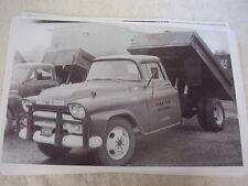 1955 56 ? GMC DUMP TRUCK     11 X 17  PHOTO  PICTURE