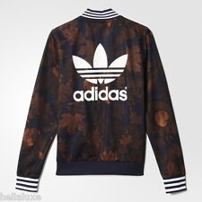 Adidas LEAF CAMO SUPERSTAR Jacket Supergirl Track Shirt Top firebird~Womens sz L