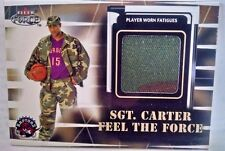 1999-00 Fleer Force #NNO Vince Carter/Sgt.Carter Jersey Team: Toronto Raptors