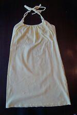 Victorias Secret VS Bra Top Solid Yellow Halter Beach Dress Summer Sz XS