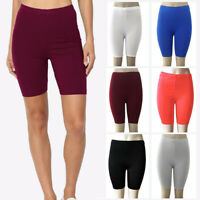 Women Fashion Solid High Elasticity Leggings Gym Active Dance Cycling Shorts
