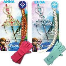 Eiskönigin Mädchen Krone Zauberstab Zopf Handschuh passend z. Kostüm Elsa Frozen