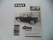 advertising Pubblicità 1957 FIAT 1200 GRANLUCE