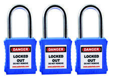 Asian LOTO LOCK blue - Set of 3 LOCKOUT/TAGOUT