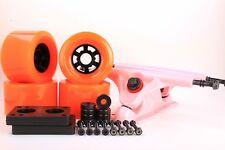 83mm 80a Orange Longboard Wheels and Pink Reverse Kingpin Truck Combo Set