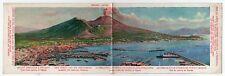 MOUNT VESUVIUS FUNICULAR RAILWAY Panoramic Postcard PC Italy ITALIA Naples MT