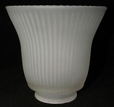 Ribbed Frosted Glass Bell Shaped Chandelier Lamp Ceiling Fan Light Cover Shade