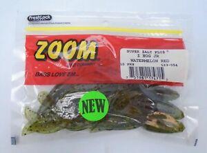 "zoom z hog jr 3.5"" bass lure bait watermelon red 123-054 10 per pack"
